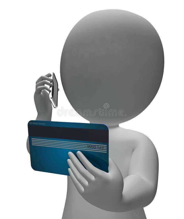 信用卡代表商业贷款和债务3d翻译 向量例证