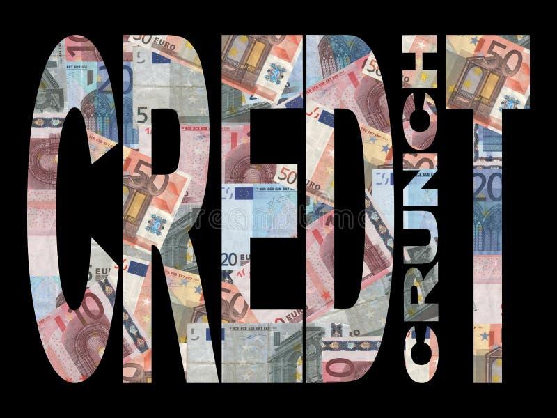 信用恐慌欧元 皇族释放例证