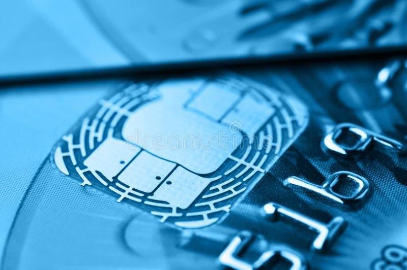 信用或转账卡 聪明的芯片 免版税库存照片