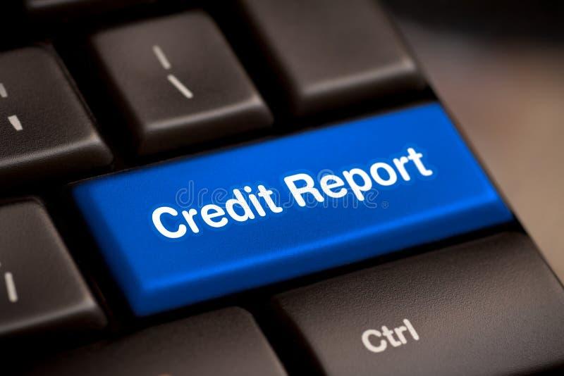 信用报告自由存取贷款检查比分好债务 库存照片