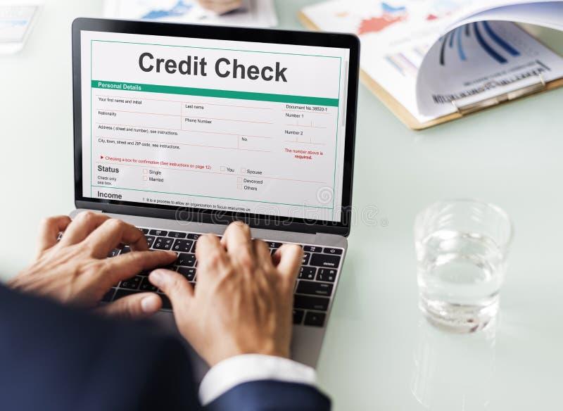 信用检查财政银行业务经济概念 免版税库存照片