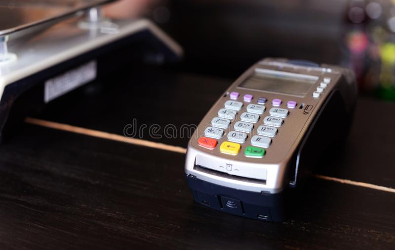 信用的卡片终端银行 图库摄影