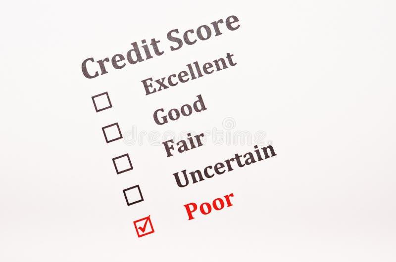 信用评分形式 库存图片