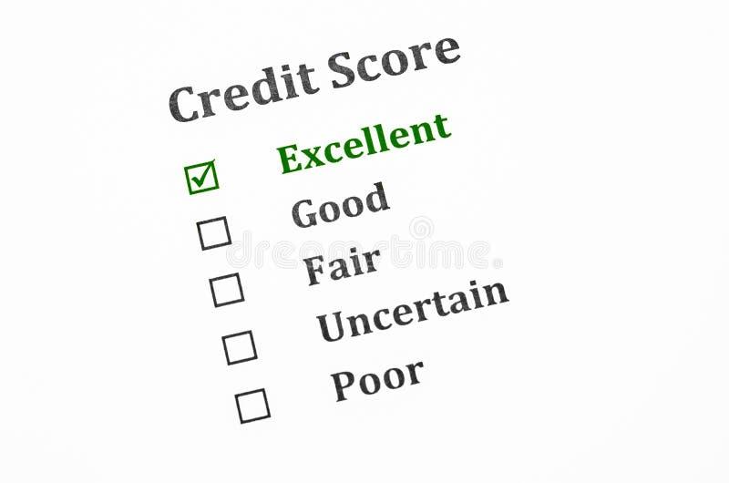 信用评分形式 免版税图库摄影