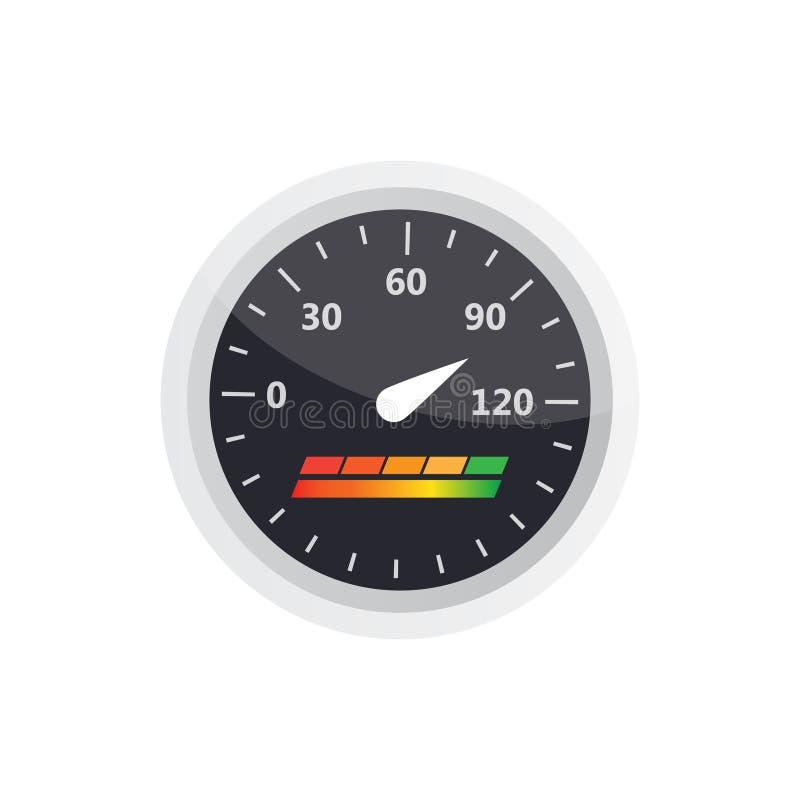 信用评分显示和测量仪传染媒介集合 评分 库存例证