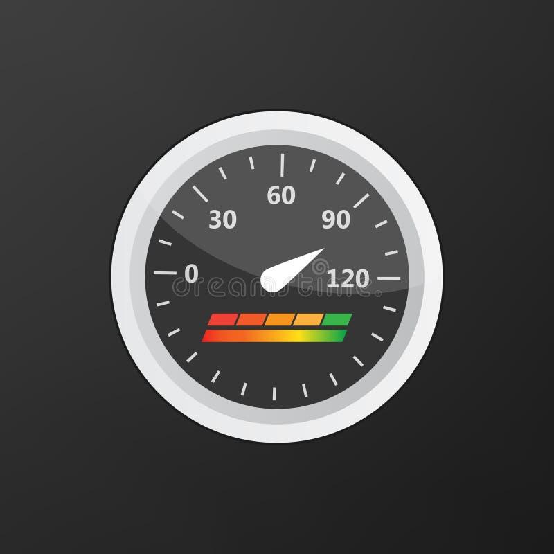 信用评分显示和测量仪传染媒介集合 评分 向量例证