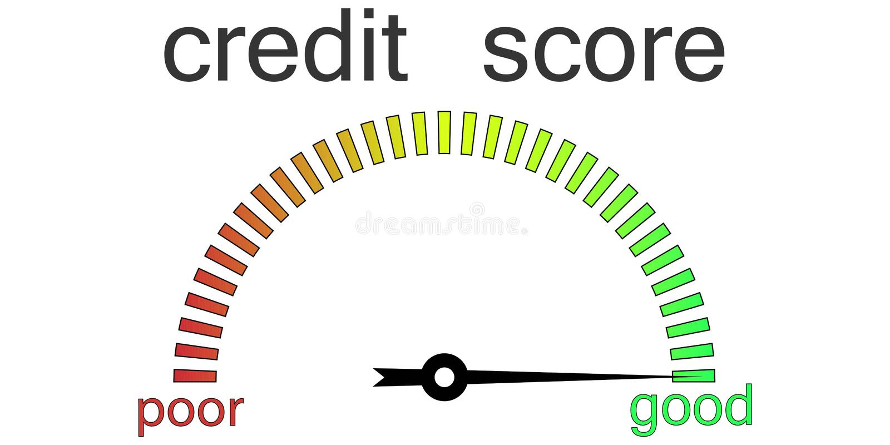 信用评分测量仪信用请求 向量例证