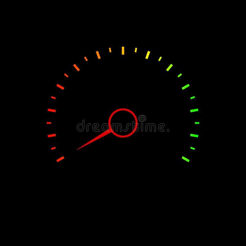 信用评分车速表 向量例证