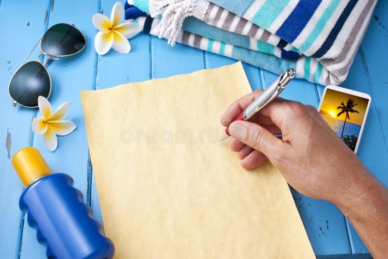 信件旅行假期假日 库存照片