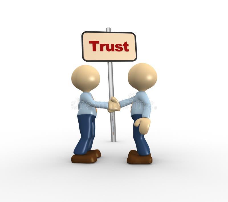信任 向量例证
