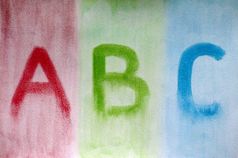 信件ABC 免版税库存图片