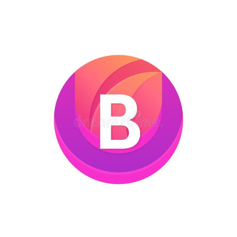 信件B商标摘要圈子形状元素 传染媒介圆compan 向量例证