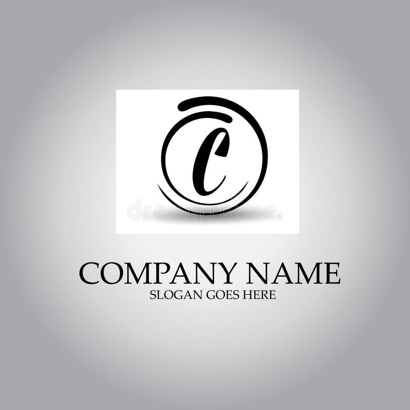 信件C商标设计观念 库存例证