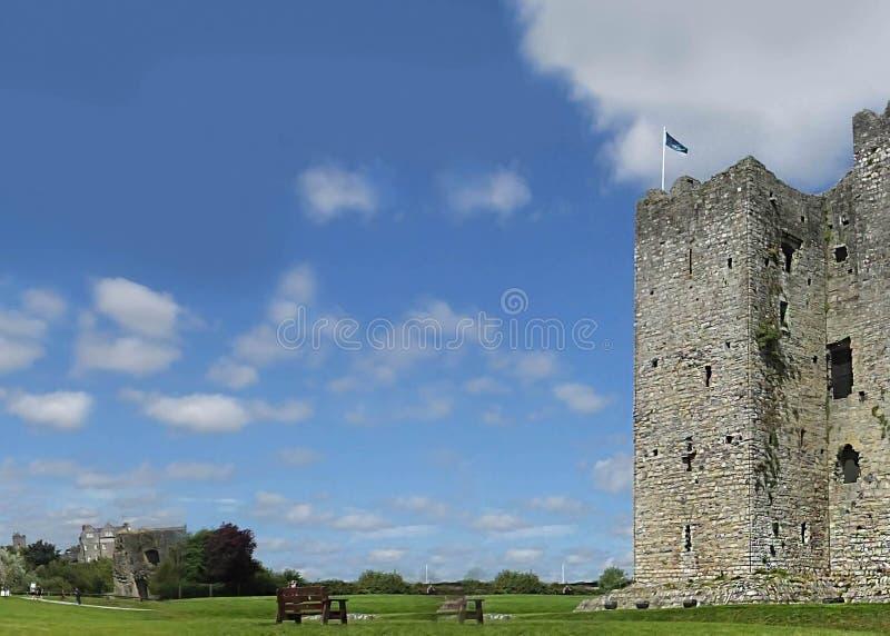 修剪城堡爱尔兰的米斯郡Rep 库存照片
