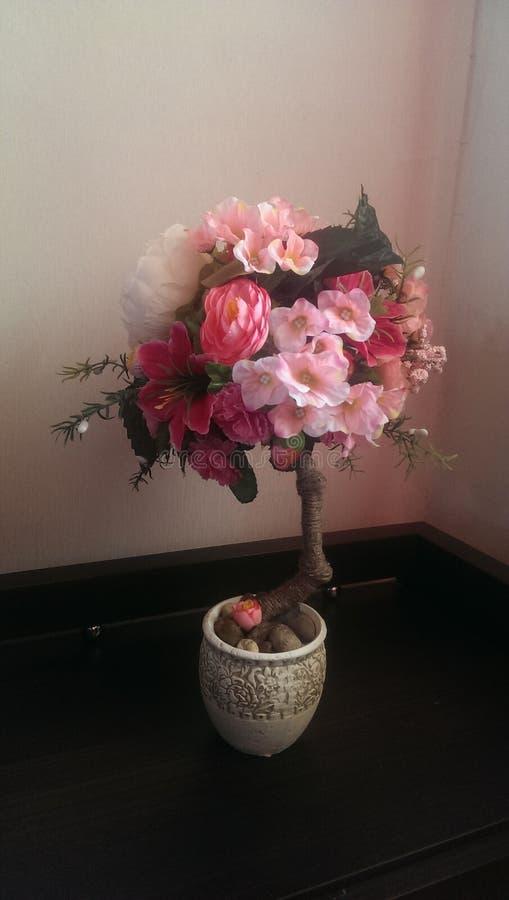 修剪的花园,花,植物,美丽,自然,装饰品,葡萄酒 免版税库存照片