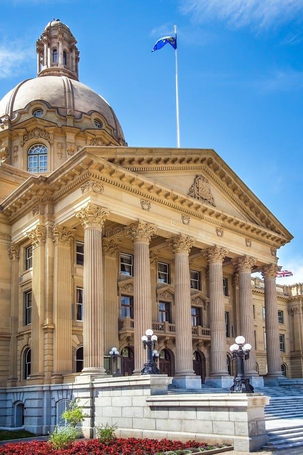 修建埃德蒙顿加拿大的亚伯大立法机关 免版税图库摄影
