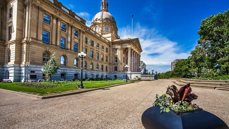 修建埃德蒙顿加拿大的亚伯大立法机关 库存图片