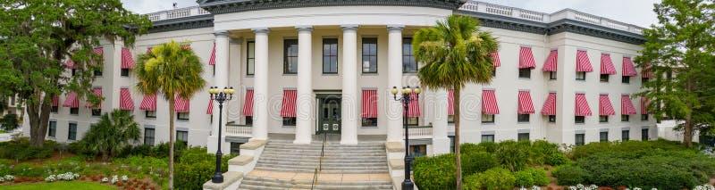 修建塔拉哈西的空中照片佛罗里达状态国会大厦 库存照片