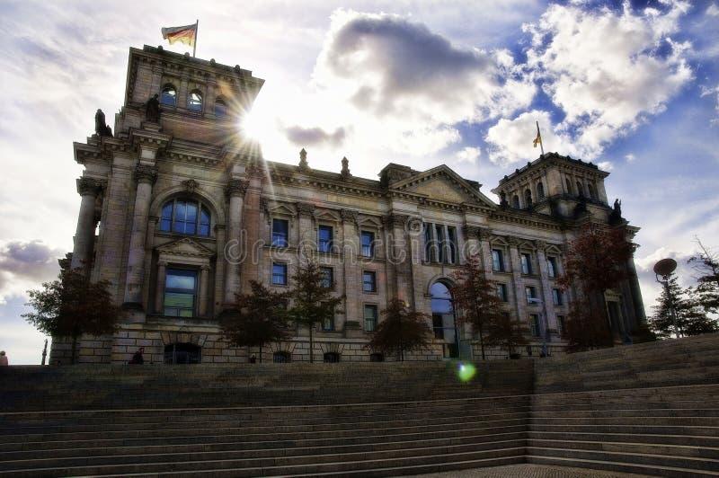 修建柏林,德国的Reichstag 库存照片
