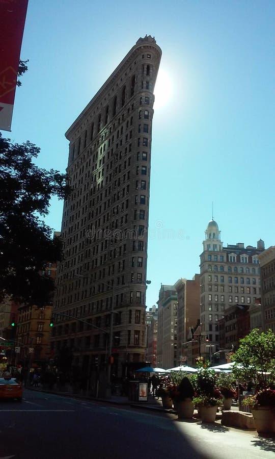 修建纽约美国的Flatiron 免版税库存图片