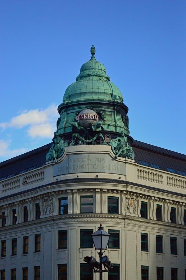 修建维也纳奥地利的Generali保险 免版税库存图片