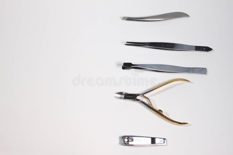 修指甲和修脚工具 库存图片