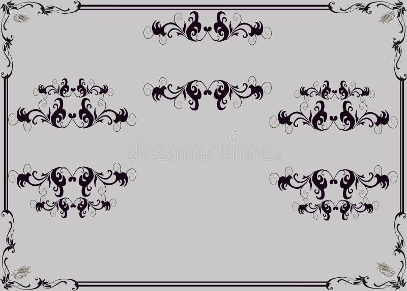 修指甲沙龙的传单模板 典雅的女性手用不同的姿态 库存例证