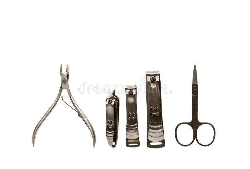 修指甲的辅助部件工具 免版税库存图片