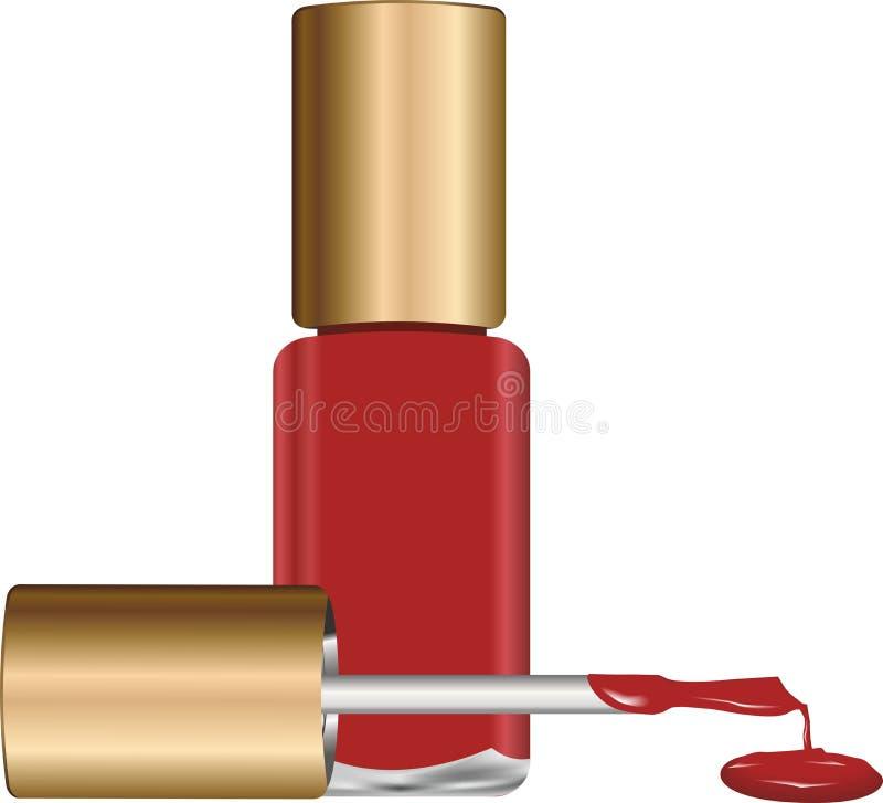 修指甲的-传染媒介指甲油 库存图片
