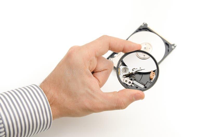 修理一个硬盘 免版税库存照片