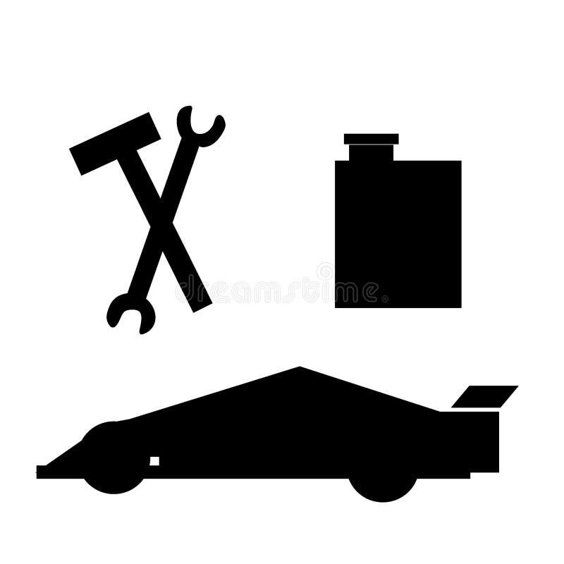 修理中心的汽车 免版税库存照片