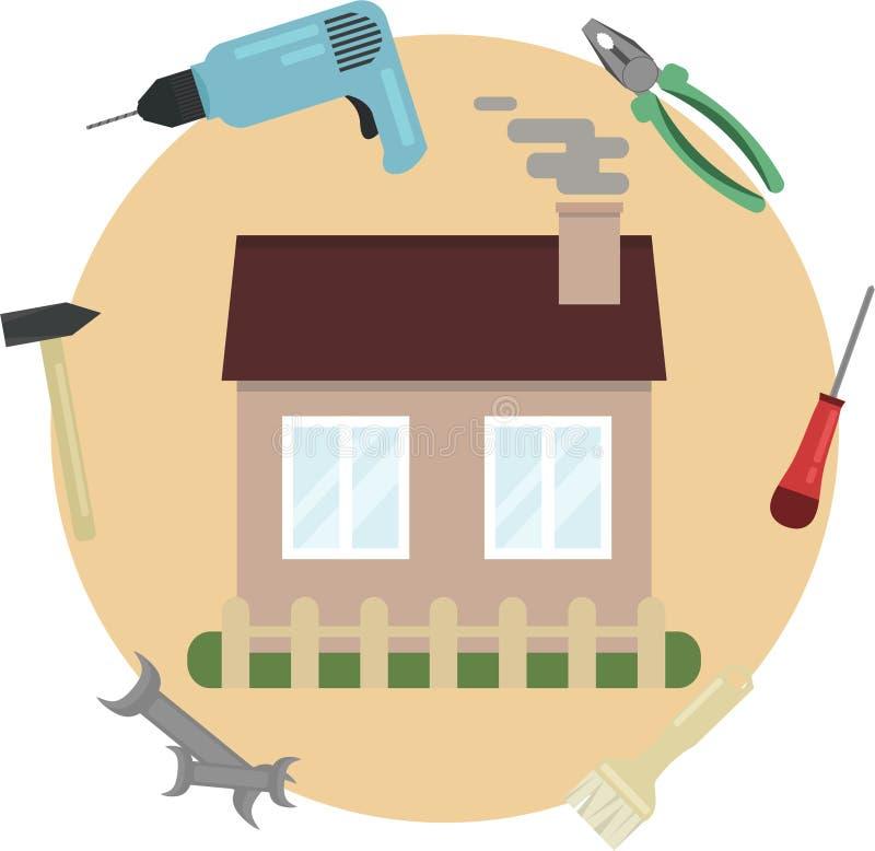 修理在房子里 免版税库存照片