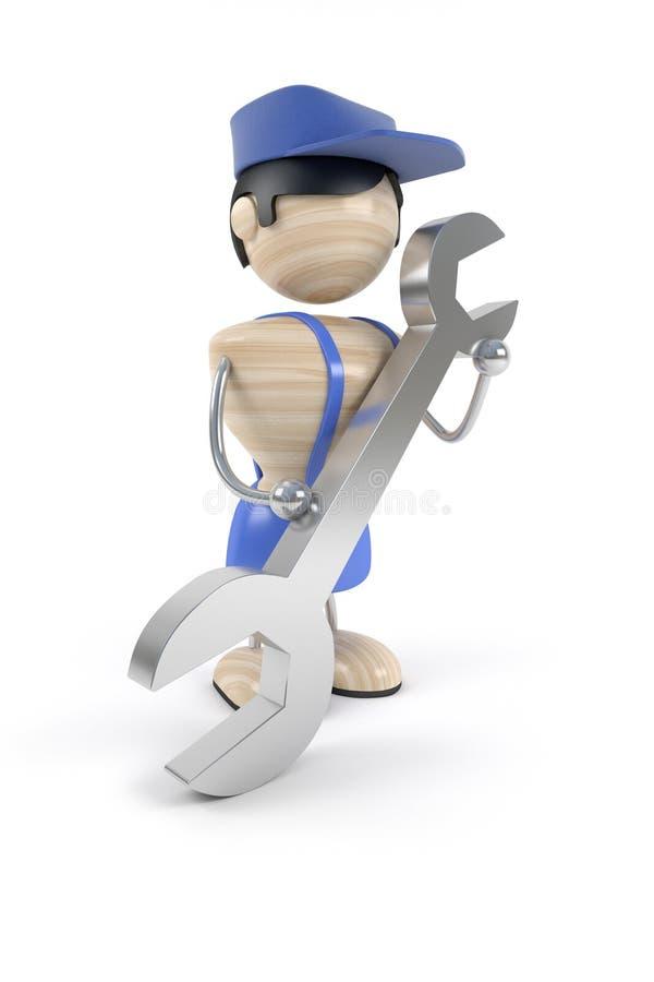 修理技术支持 库存例证