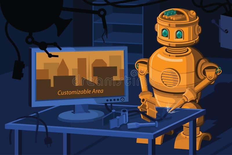 修理机器人 皇族释放例证