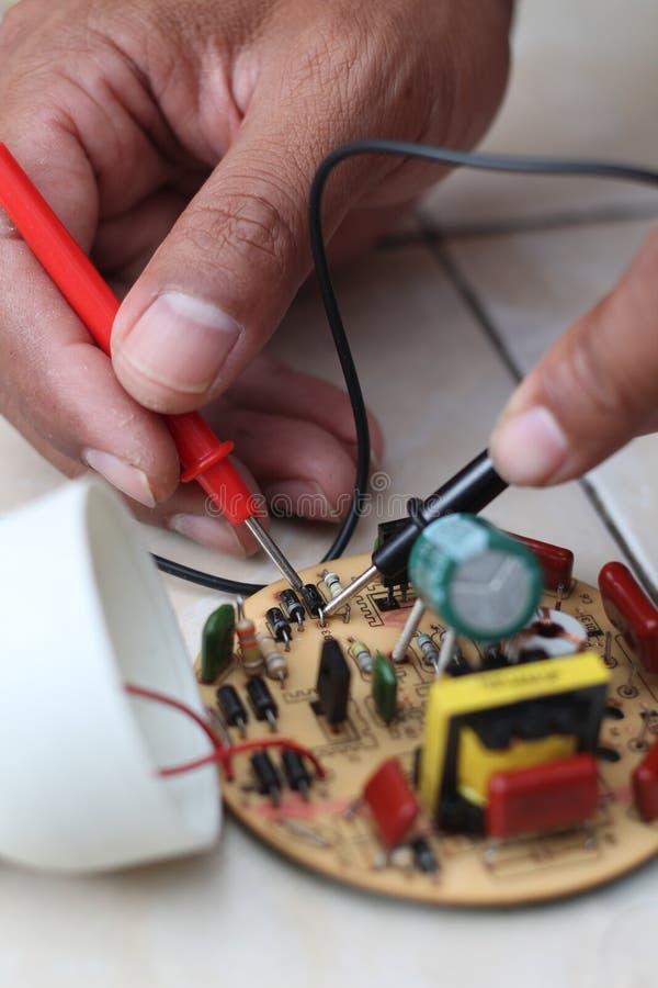 修理电子设施,版本15 库存照片