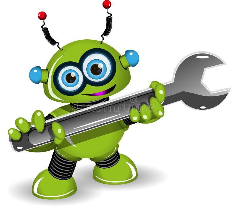 修理的机器人 库存例证