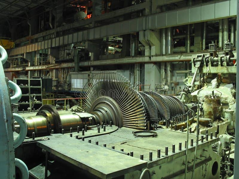 修理蒸汽机 库存照片