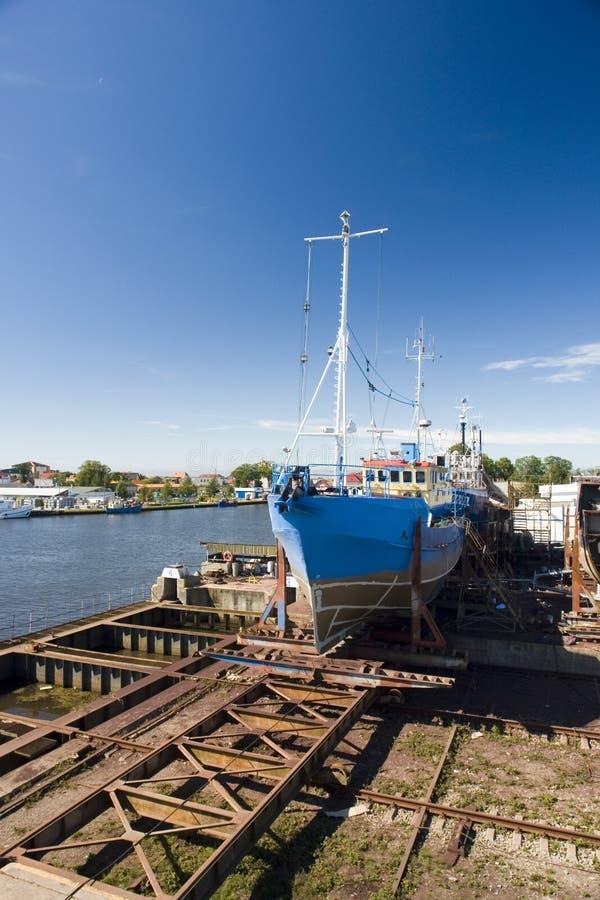 修理造船厂 库存照片