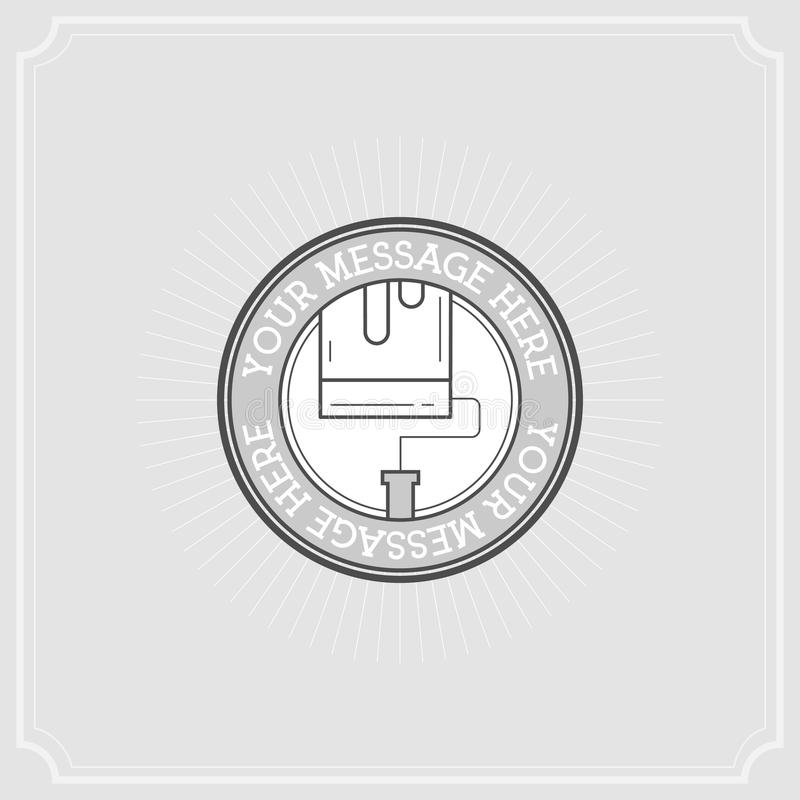 修理项目 平的例证套线现代象 库存例证