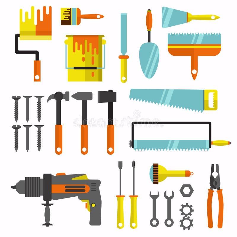 修理仪器 平的象 库存例证
