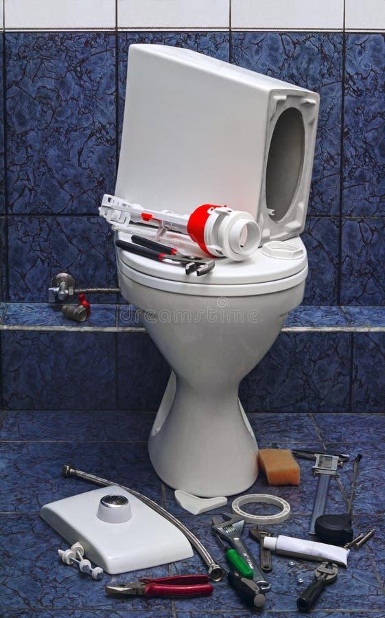 修理洗手间 免版税库存图片