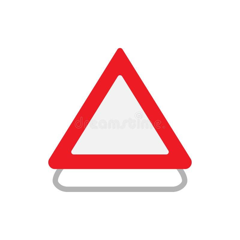 修路标志运输都市概念传染媒介象 平的室外关注机敏的长跑训练警告 库存例证