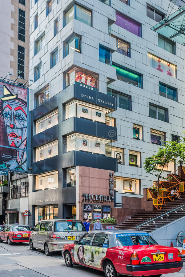 修造伦敦苏豪区中央香港的歌剧画廊 免版税库存图片