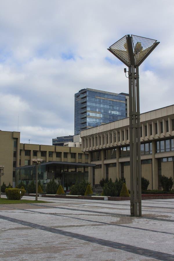 修造共和国的议会立陶宛在维尔纽斯 免版税图库摄影