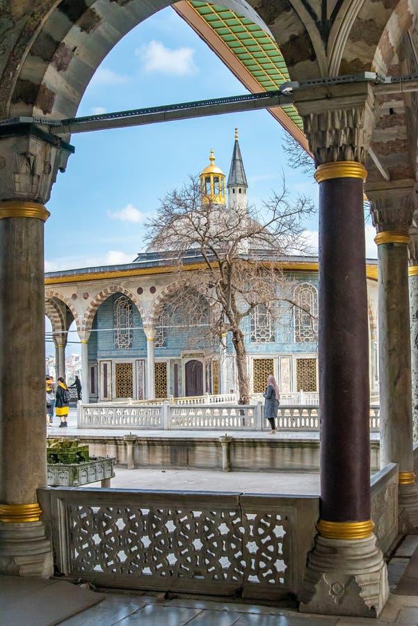 修造在托普卡珀宫里面在伊斯坦布尔 库存图片