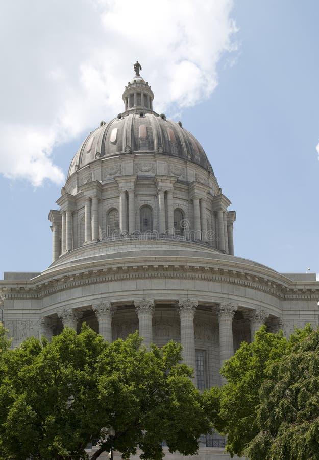 修造密苏里状态国会大厦的历史在城市杰斐逊MO 免版税库存照片