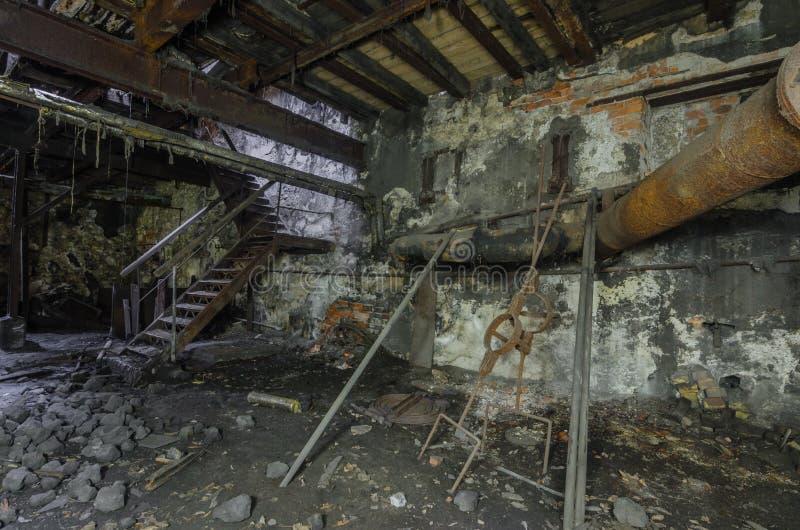 修造用台阶在铸造厂 免版税库存照片