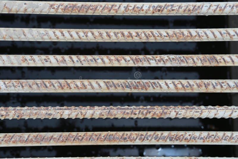修造的基础的结构钢 免版税库存图片