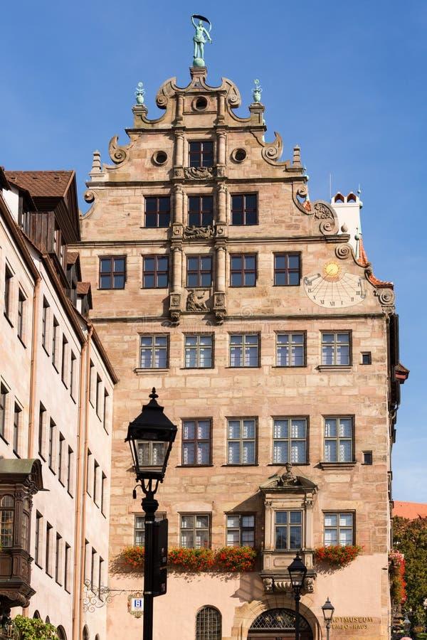 修造的外部Fembohaus StadtMuseum 免版税库存照片