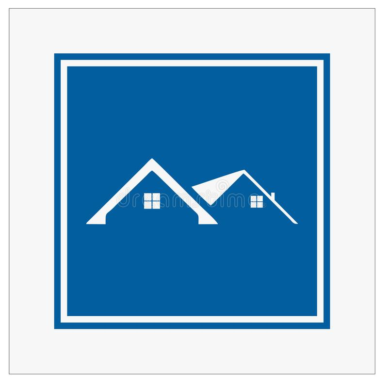 修造的,真正的estatehome和建筑商标和传染媒介设计 皇族释放例证